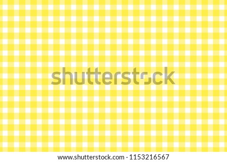 Plaid, check pattern yellow and white. Simple background