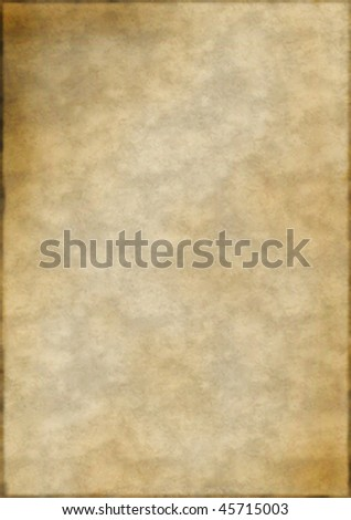 Plain aged paper with burnt edges