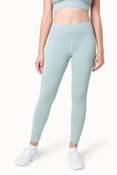Plain blue yoga pants sportswear apparel studio shoot