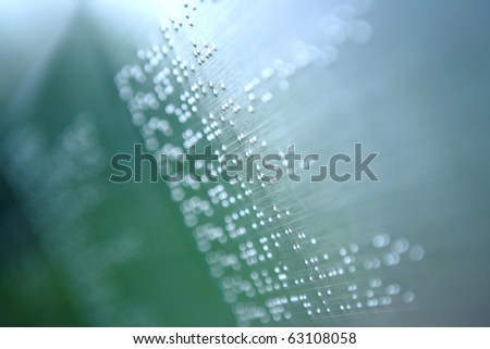 plain braille page abstract