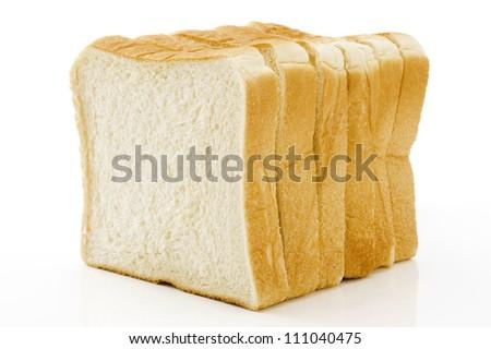 Plain bread on white background