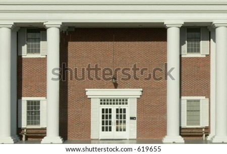 Brick Federal Style http://www.shutterstock.com/pic-619655/stock-photo-plain-brick-exterior-entryway-to-federal-style-office-building.html