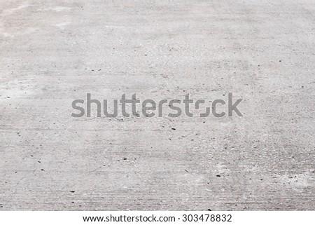 plain cement floor, perspective view