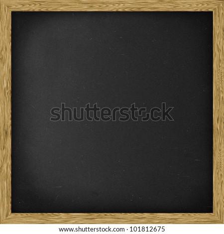 Plain Chalkboard blackboard, Square.