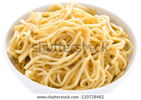 plain egg noodles in a bowl