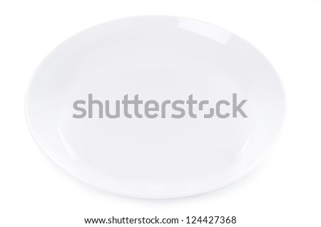plain empty plate isolated on a white background