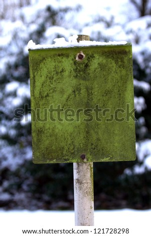 plain green old sign
