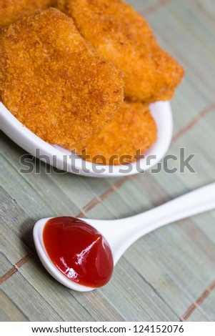plain isolated chicken nuggets