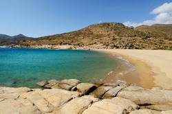 Plakes beach on the east coast of the Greek island of Ios in the Cyclades archipelago