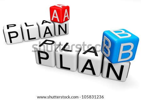 Plan A and B Crossword Block text on a white background
