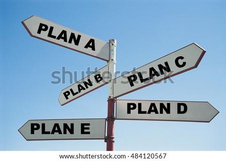 Plan A, Plan B, Plan C, Plan D #484120567
