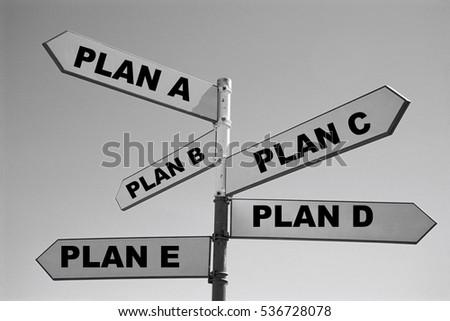 Plan A, Plan B, Plan C, Plan D #536728078