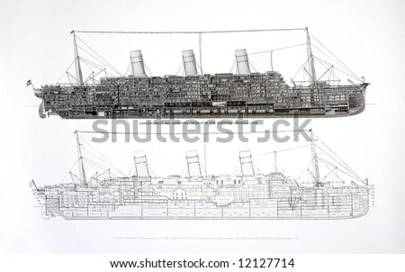 plan of an old steamship