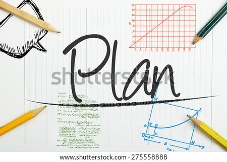 Plan written in the notebook