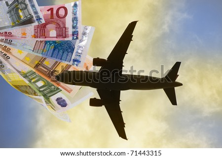 plane and money, travel expenses
