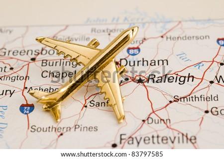 Plane Over North Carolina, Map is Copyright Free Off a Government Website - Nationalatlas.gov