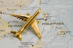 Plane Over Phillipines, Map is Copyright Free Off a Government Website - Nationalatlas.gov