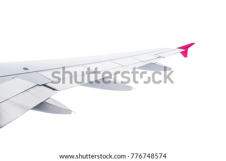 Plane Wing Isolated on white background #776748574