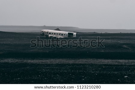 plane wreck in iceland at a...