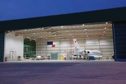 planes in the hangar