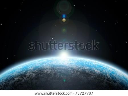 planet - stock photo