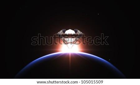 planet and diamond