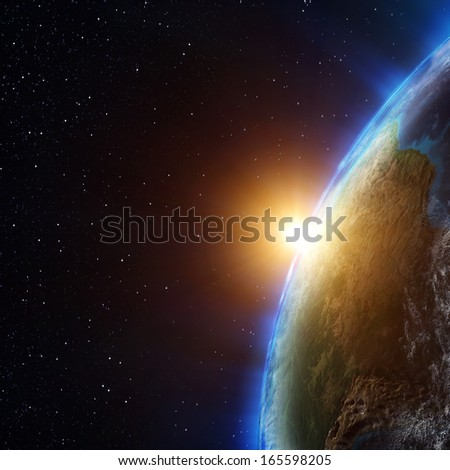 Planet atmosphere. Elements of this image furnished by NASA