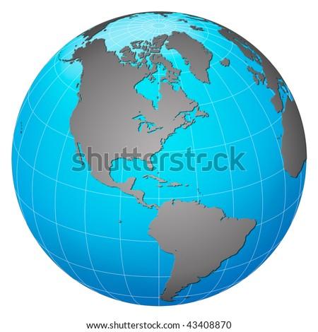 Planet earth, America centric