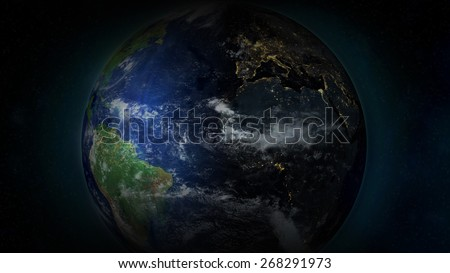 Planet Earth Closeup - Europe at night (Elements of this image provided by NASA)