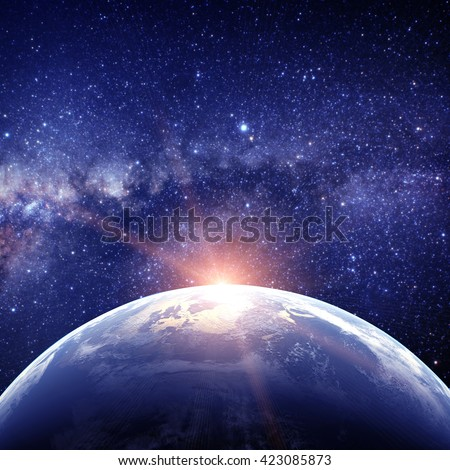 Planet earth. Elements are furnished by NASA  #423085873