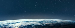 Planet earth from the space at nightSome elements of this image are furnished by NASA.