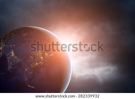 Planet earth from the space. Some elements of this image furnished by NASA #282339932