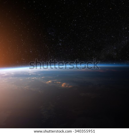 Planet earth from the space. Some elements of this image furnished by NASA #340355951