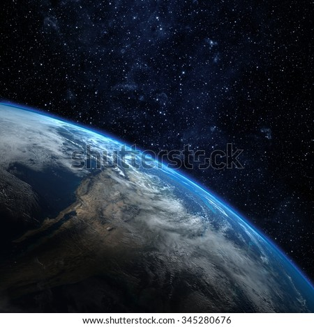 Planet earth from the space. Some elements of this image furnished by NASA