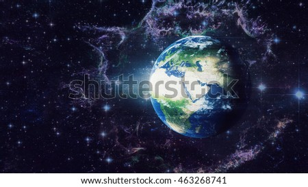 Planet Earth Global Hologram - Virtual Reality Technology 3D Illustration (Elements of this image furnished by NASA)