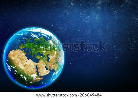 Planet earth in space. Europe.