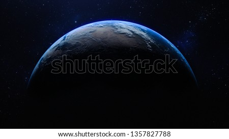 planet earth in the space - elements of this image furnished by NASA