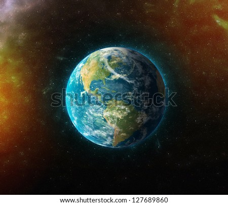 """planet earth """"Elements of this image furnished by NASA"""" - stock photo"""