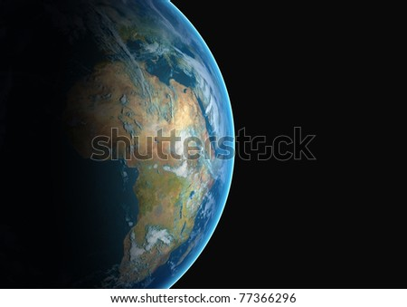 planet earth viewed from space and cropped to reveal the continent of Africa