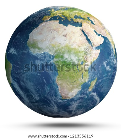 Planet Earth weather. Elements of this image furnished by NASA. 3d rendering