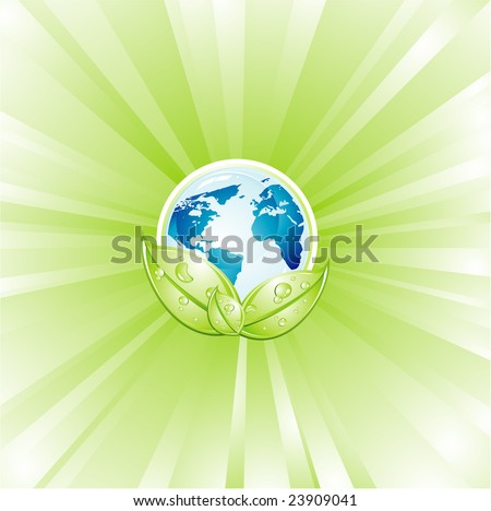 earth lights wallpaper. Planet Earth with an explosion of