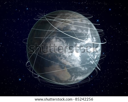 planet earth with global connection