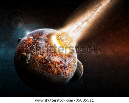 Planet explosion