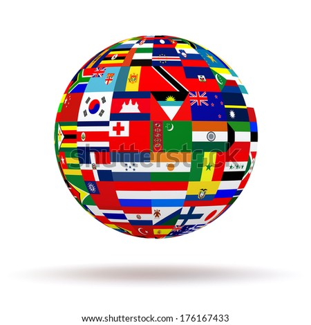 Royalty free flags globe vector sphere with flags 119419429 stock planet flags 3d 176167433 a vector freerunsca Image collections