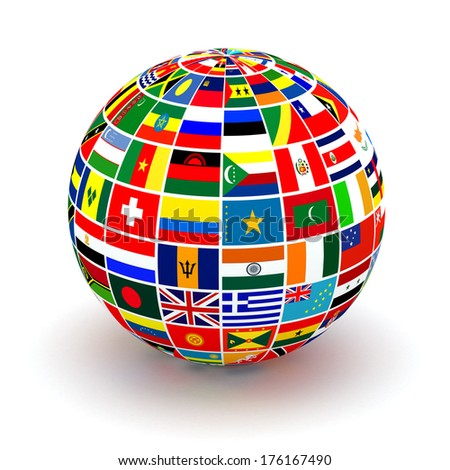 Royalty free flags globe vector sphere with flags 119419429 stock planet flags 3d 176167490 freerunsca Image collections