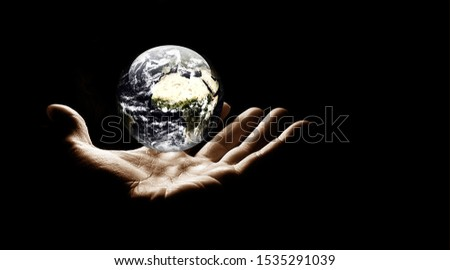 planet in human hands. Planet. Planet Earth