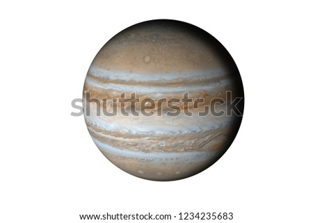 Planet Jupiter of solar system isolated. Elements of this image furnished by NASA.