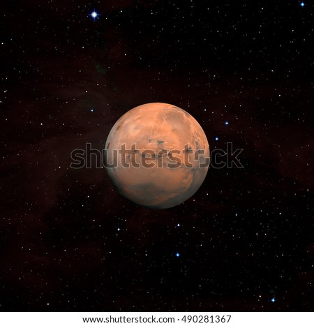 Planet Mars - Elements of this Image Furnished By Nasa