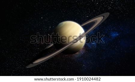 Planet Saturn 4K Stock Image 3D Rendering Stockfoto ©