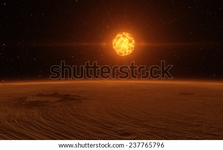 Stock Photo Planet surface. Fantastic planet